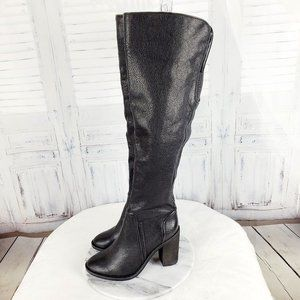 Vince Camuto Leather Knee High Wide Calf Boots